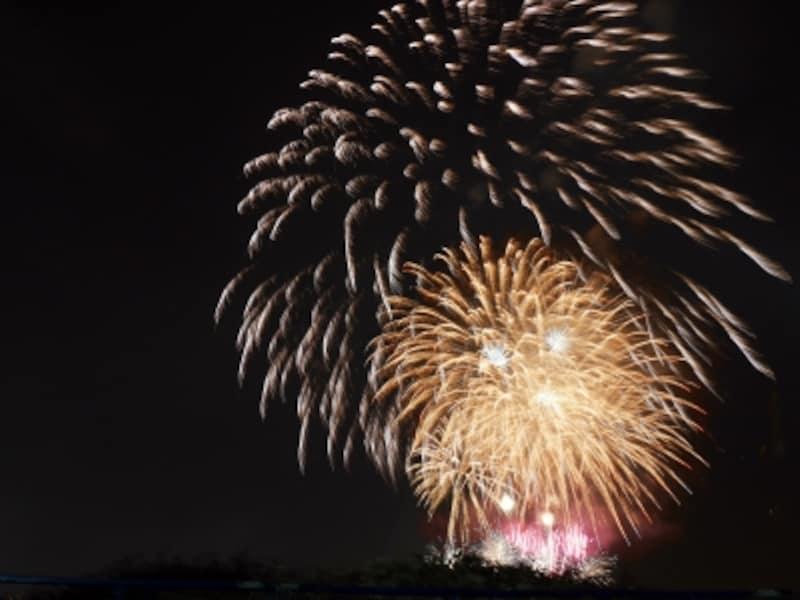 山下公園の横浜赤レンガ倉庫側は、花火開始時間近く(この日は19:00ごろ到着)でもまだ座るスペースがありました。山下公園内は三脚使用NGなので手持ちで撮影(2017年7月16日撮影)