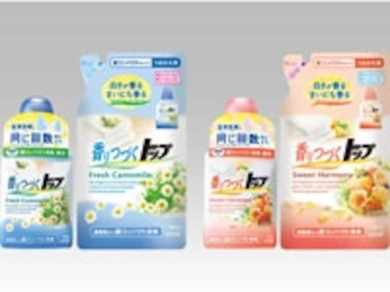 汗の臭いや皮脂汚れを植物生まれの消臭成分で落とす『香りつづくトップ』。蛍光剤無添加なので色柄やきなりの衣類も安心。柔軟剤とよい香りもプラス。
