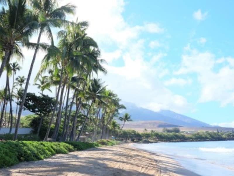 マウイ島を代表するビーチリゾート、カアナパリ。カパルア空港から車で約10分