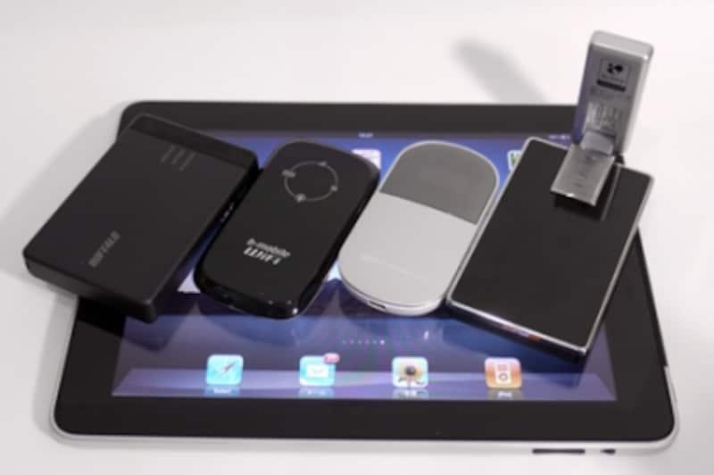 各社から発売されているモバイルWi-Fiルーターを組み合わせて使うといいだろう