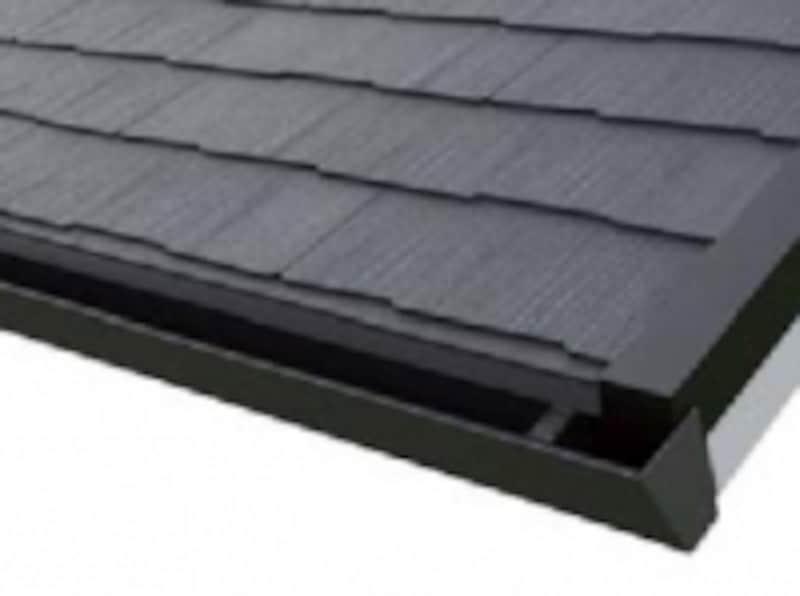 勾配を合わせて設置することができるので、屋根や軒先と一体化し、すっきりとした印象に。[Archi-specTOI]undefined平形屋根用スレートundefinedundefinedケイミュー
