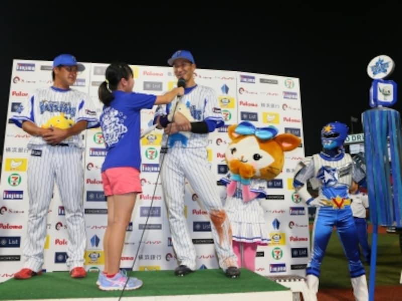 2015年「キッズスタジアムundefinedプロ野球お仕事体験」のようす(画像提供:横浜DeNAベイスターズ)