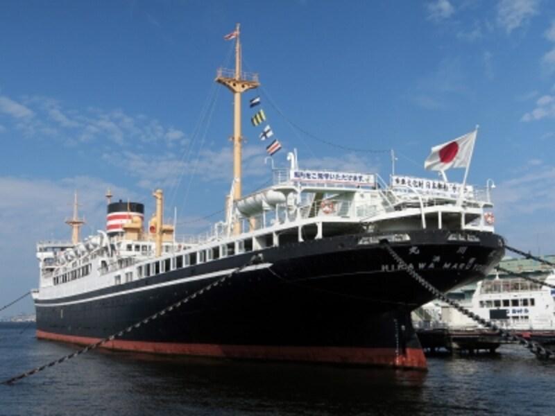 2016年に重要文化財指定された「氷川丸」の船内をクイズラリーを楽しみながら見学しよう(2016年4月16日撮影)