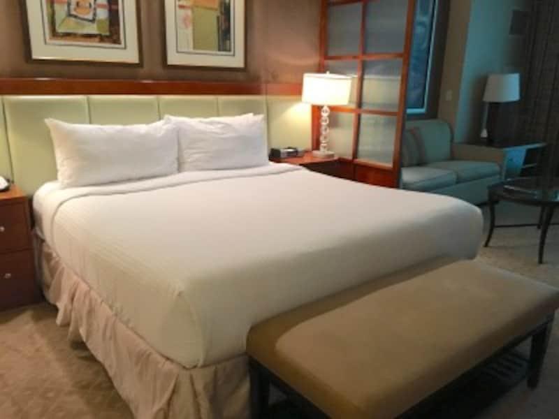 バーカウンターなども付いているホテルのセミスィートルーム