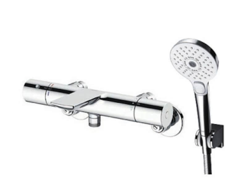 3つのシャワーモードを持つヘッドやシリンダー形のデザインのヘッド、などが選べる。[壁付サーモスタット混合水栓undefinedTBV01S01J]undefinedTOTOundefinedwww.toto.co.jp/