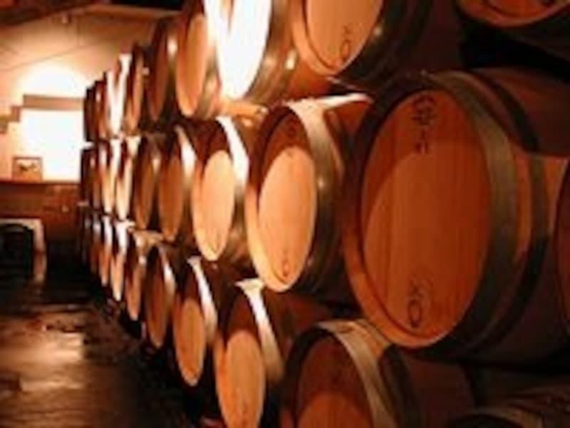 ワイン樽の大きさにびっくり!