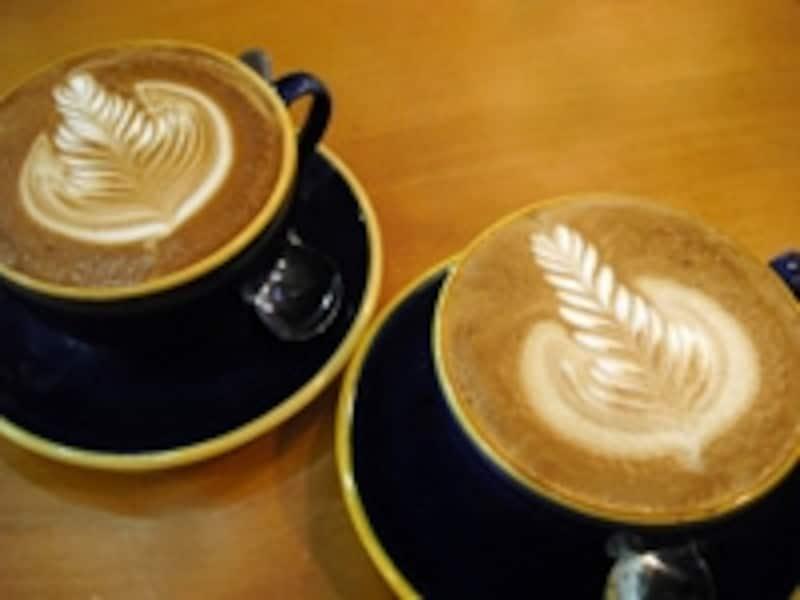カフェではよく泡で絵を書いてくれる