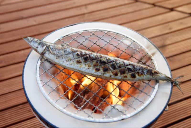 ただの塩焼きですが、旬の魚はこれが一番!
