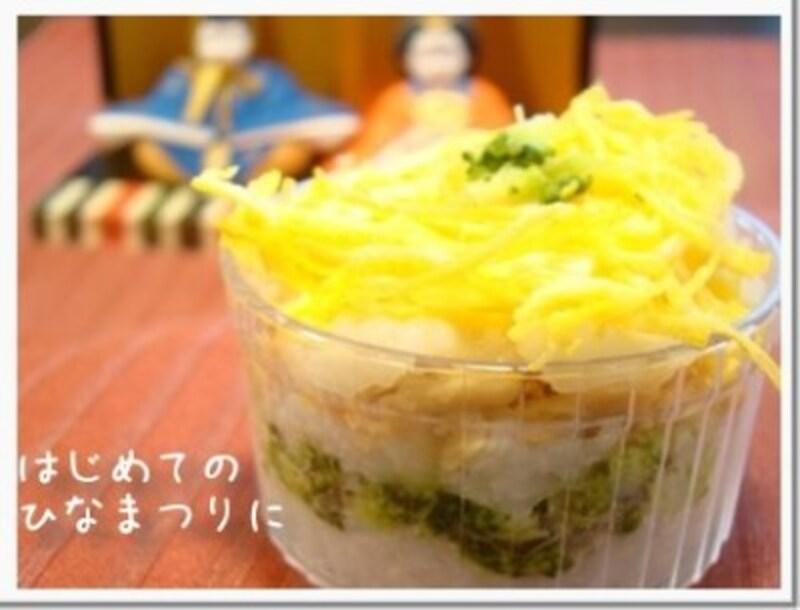 ひな祭りの幼児食レシピ!7か月~幼児向けの簡単カップ寿司の作り方