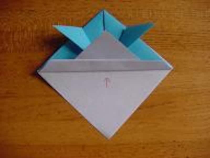 かぶとの折り方7