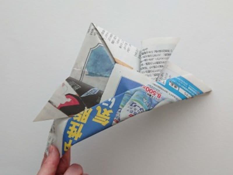 新聞紙兜の完成