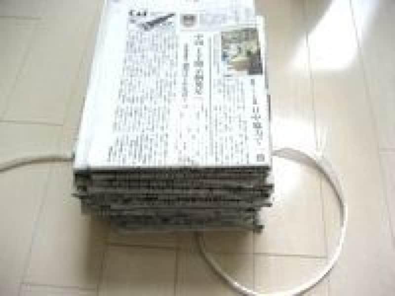 新聞の縛り方雑誌・本の縛り方結び方まとめ方新聞や雑誌を置く