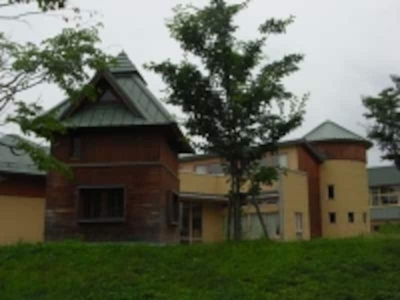 隠れ小屋が見える校舎の外観