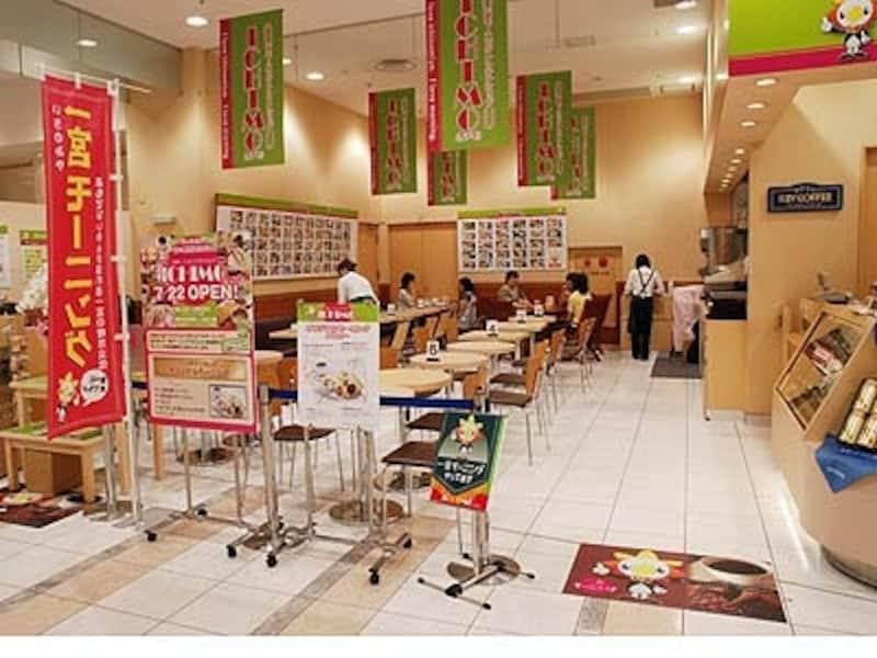 名鉄百貨店一宮店1階にオープンした「ICHIMO」(イチモ)。一宮モーニングで町の活性化を図る一宮商工会議所が運営する