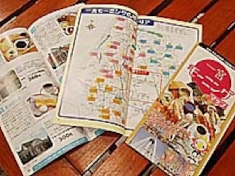 店内で無料配布される一宮モーニングマップ。参加店の詳細な内容やマップ、さらに一宮モーニングの歴史や市内の観光情報まで掲載した全60ページの充実の内容