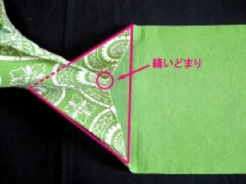 この三角がキレイに折れているかがポイント