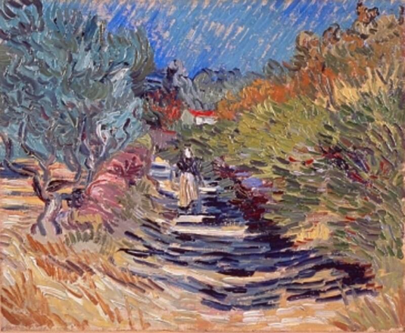 フィンセント・ファン・ゴッホ《サン=レミの道》1889-90年
