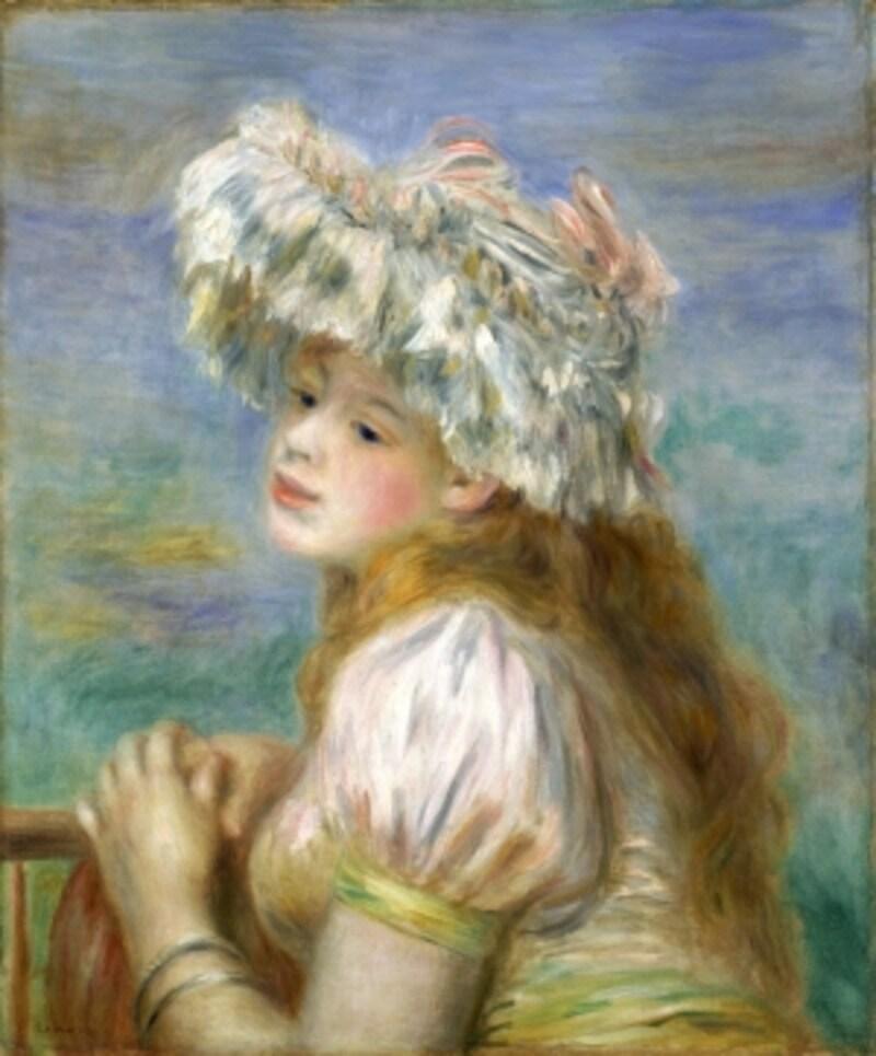 オーギュスト・ルノワール《水浴する女》1891年