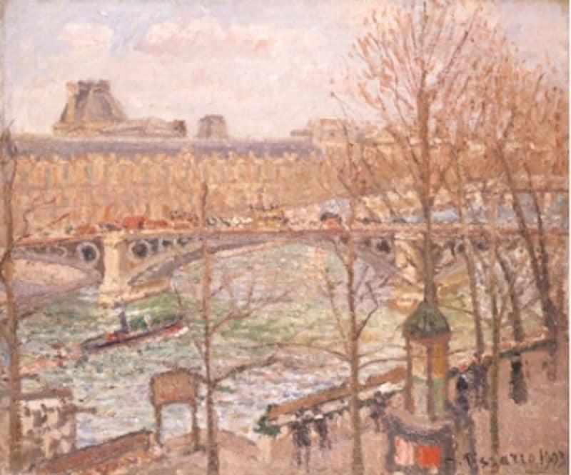 カミーユ・ピサロ《カルーゼル橋の午後》1903年undefined松岡美術館蔵