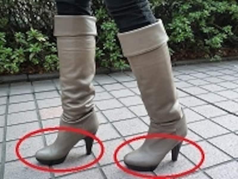 ブーツでは足首が使えていない