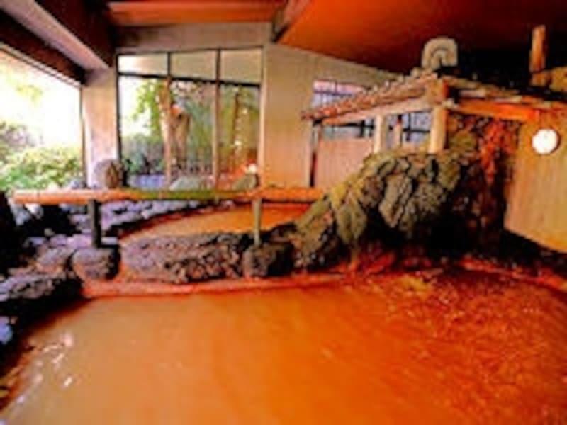 有馬温泉の名湯(金泉)を存分に堪能出来る大浴場