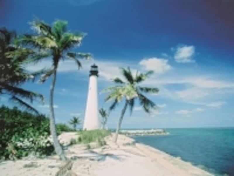 有名な観光地の1つ白灯台(C)VISITFLORIDA