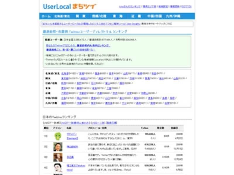 自分の地元やまだフォローしていない都道府県のユーザーを探せる「まちツイ」