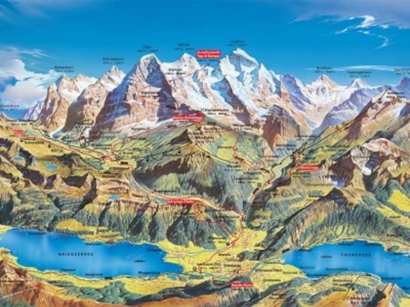 ユングフラウ地方マップ