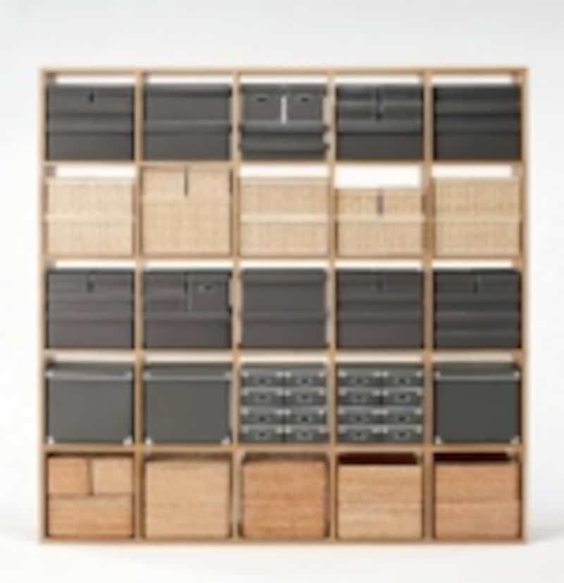 無印良品のスタッキングシェルフは、グッドデザイン賞も受賞した大ヒット商品。