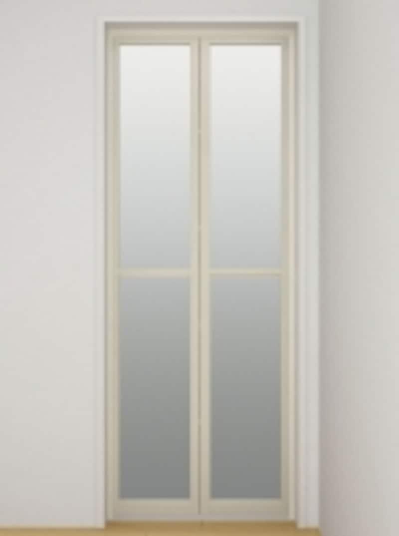 システムバスで多く用いられる折れ戸。[スパージュundefined折り戸(800W)]undefinedLIXILundefinedhttp://www.lixil.co.jp/