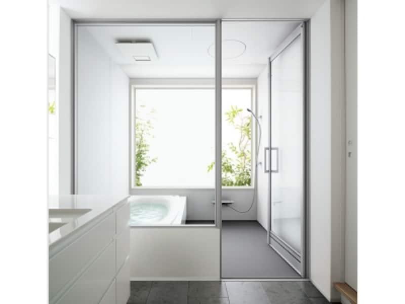 洗面脱衣室からの広がりを感じる開き戸タイプ。[L-CLASS]undefinedパナソニックエコソリューションズ