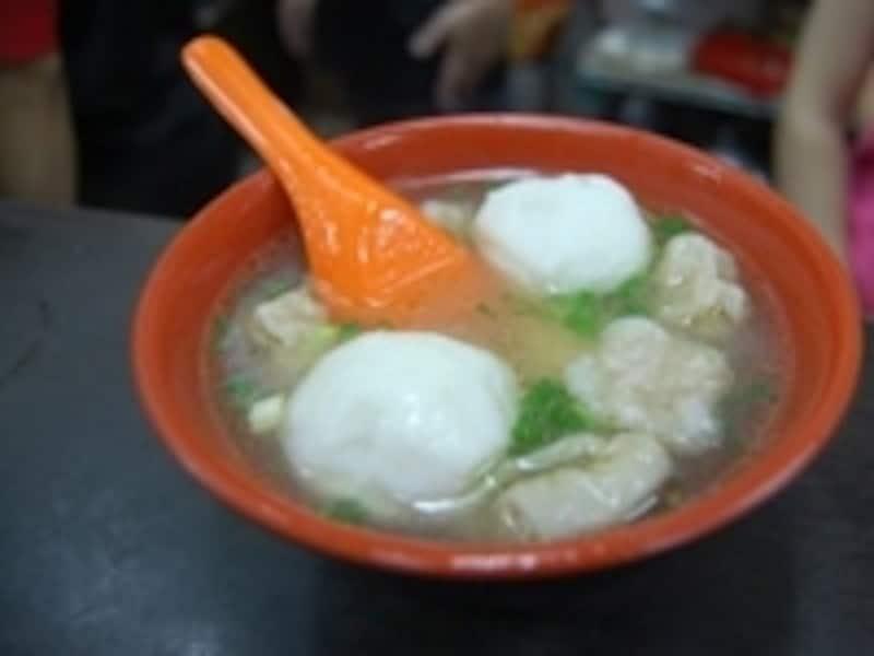 魚丸麺、70台湾元(約196円)