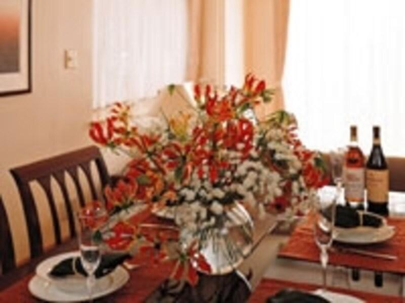 テーブルの飾り