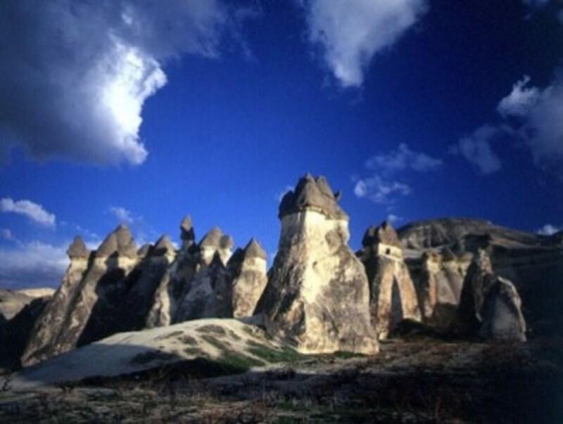 不思議な形をしたカッパドキアの奇岩