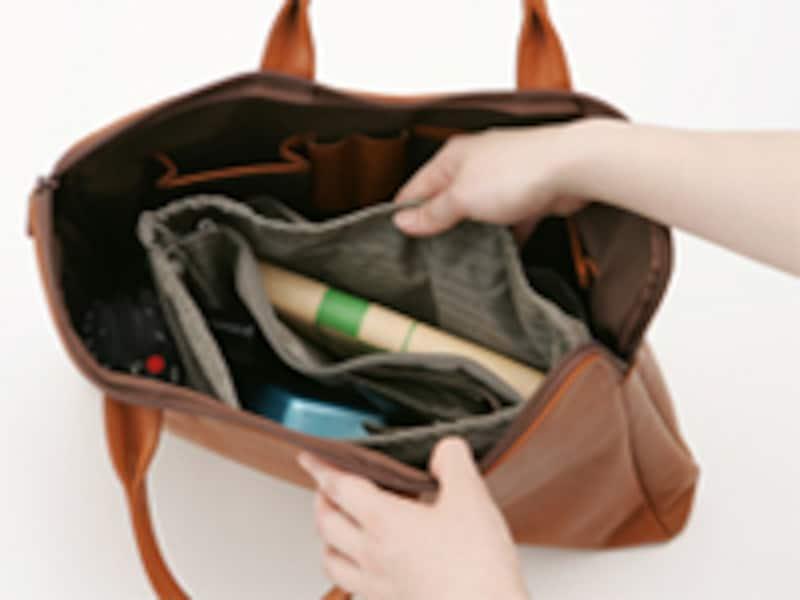 独身時代に使っていたバッグが、マザーズバッグ(ママバッグ)に変身!