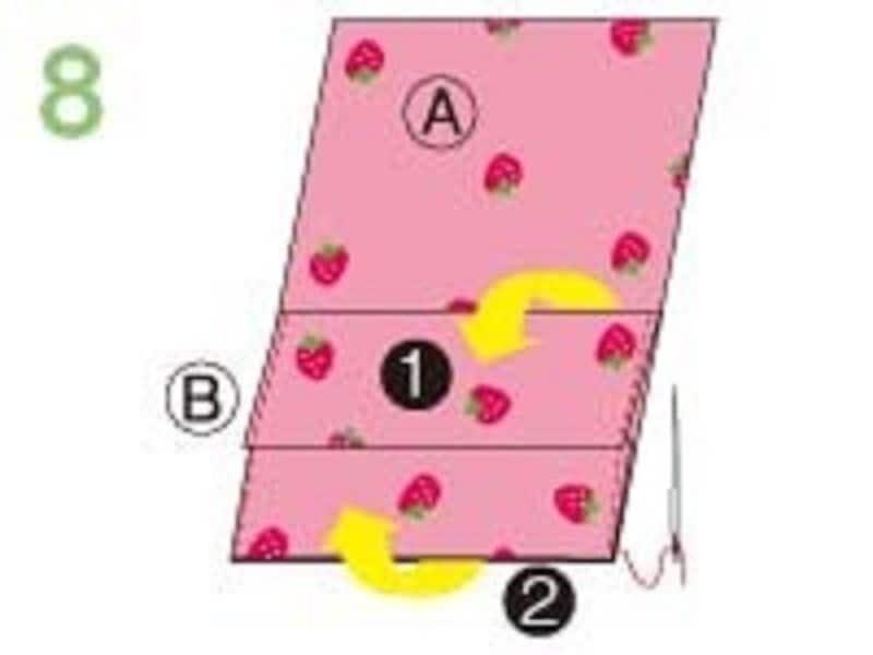 手縫い移動ポケット作り方ステップ8