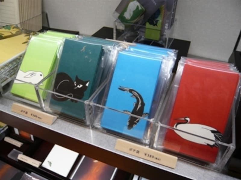 作品の一部分をキャラクターのように配したポップなポチ袋。1セット380円