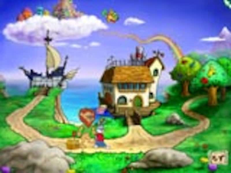 かさの島の入り口の画面イメージ