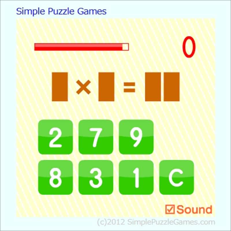 九九ゲーム SimplePuzzleGamesかけ探