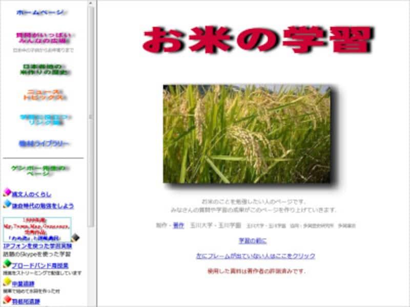 お米の学習