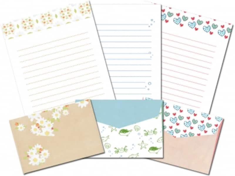 便箋・封筒のレターセットテンプレート 印刷サイト 高解像度で美しいレターセットが作れる封筒素材館