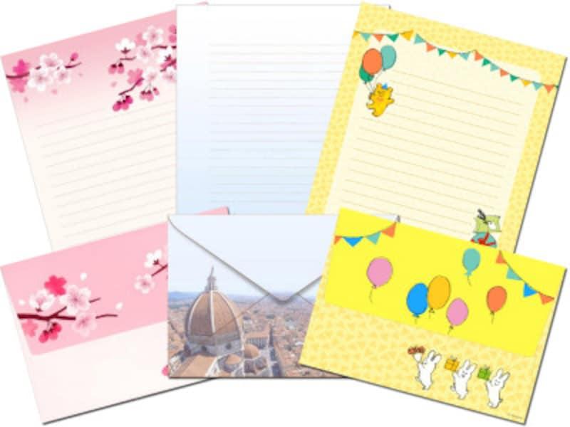 便箋・封筒のレターセットテンプレート キッズ向けやシーズン素材も豊富!キヤノンクリエイティブパーク