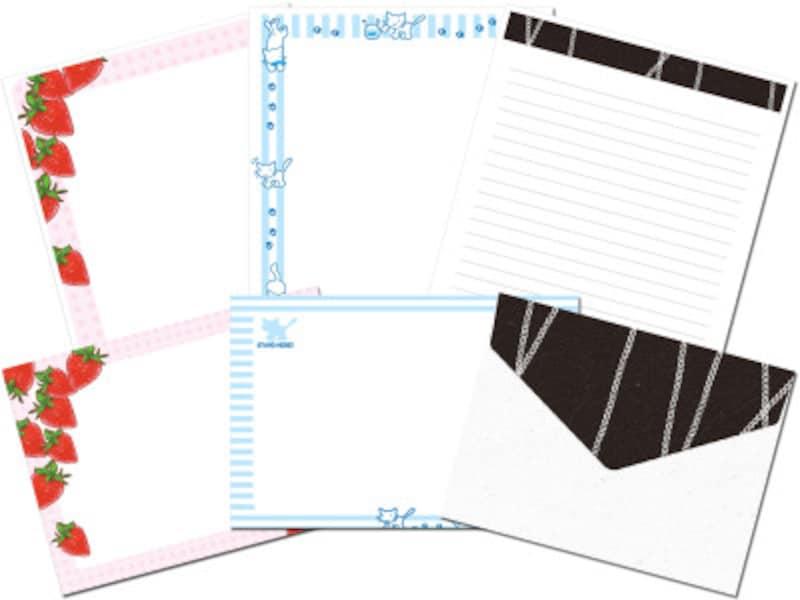便箋・封筒のレターセットテンプレート 文字を入力するならWord形式が便利!サンワサプライペーパーミュージアム