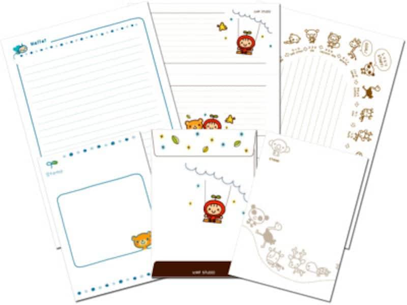 便箋・封筒のレターセットテンプレート 子供が喜ぶデザインがいっぱい!KFSTUDIO