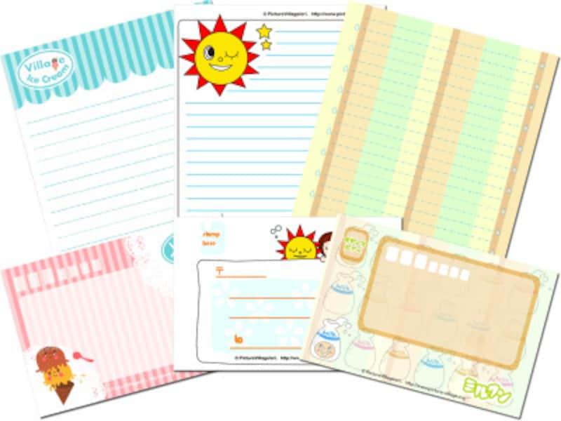 便箋・封筒のレターセットテンプレート ポップなデザインのレターセットが豊富Picturevillage
