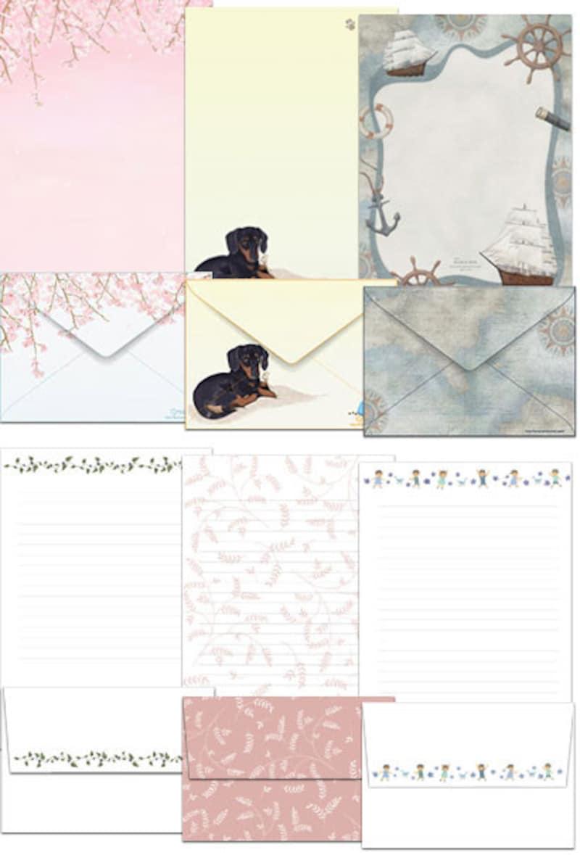 便箋・封筒テンプレート、レターセットテンプレート無料印刷