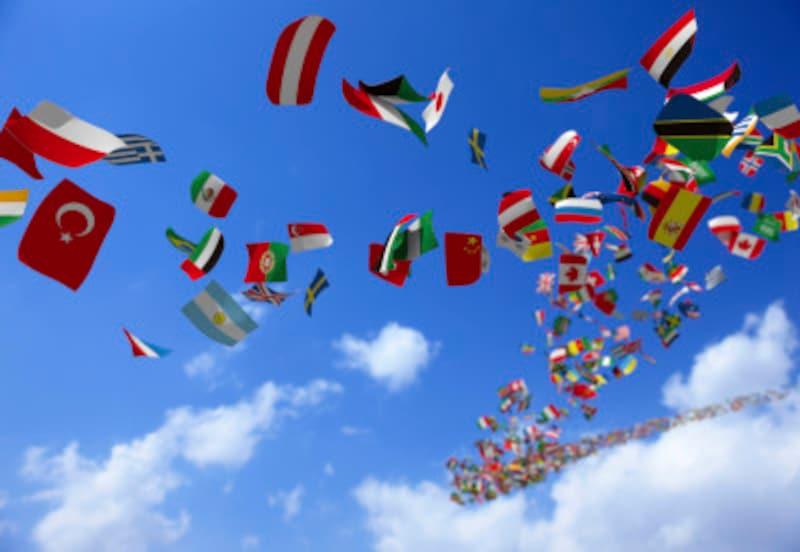 インターネットを使って世界中の国旗を調べてみましょう