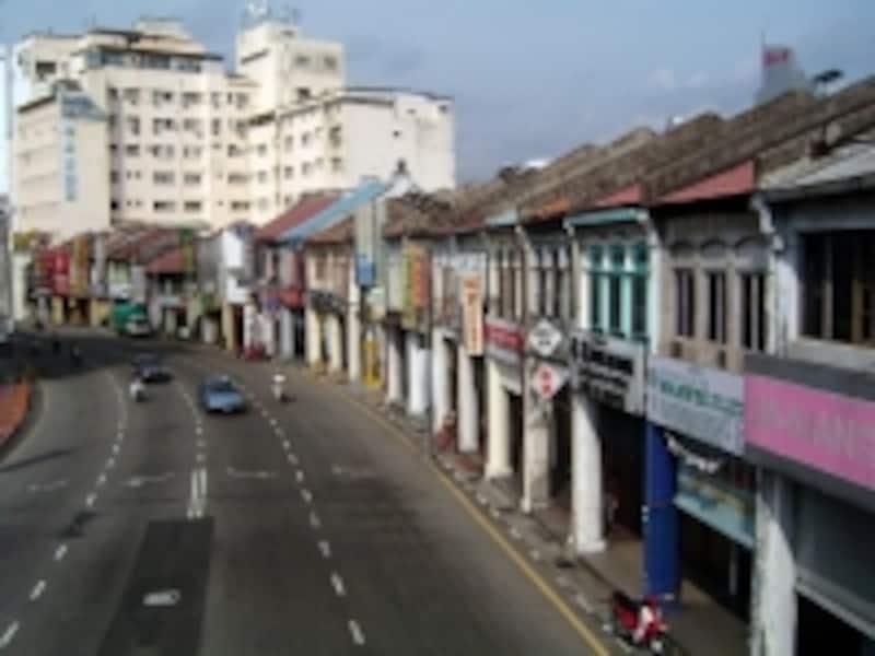 ペナン島のジョージタウン。美しいリゾートと、情緒溢れる街並の両方が楽しめると人気のエリアのひとつ