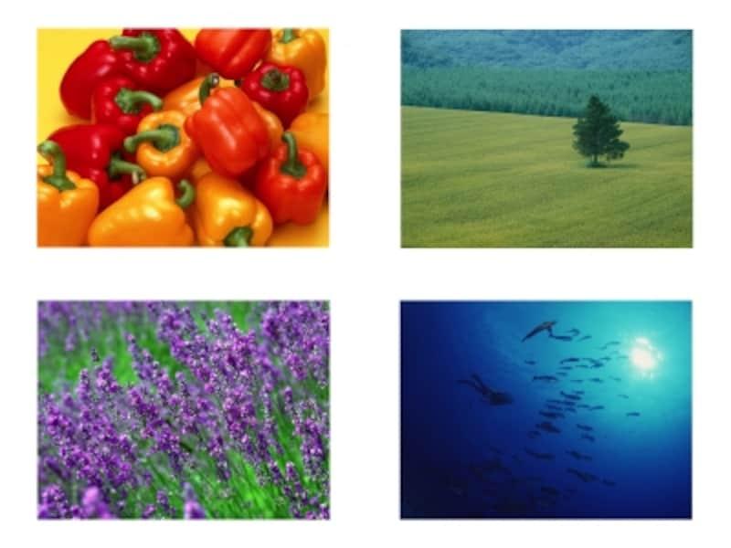 有彩色は、暖色系、寒色系、中性色系に分類されます。