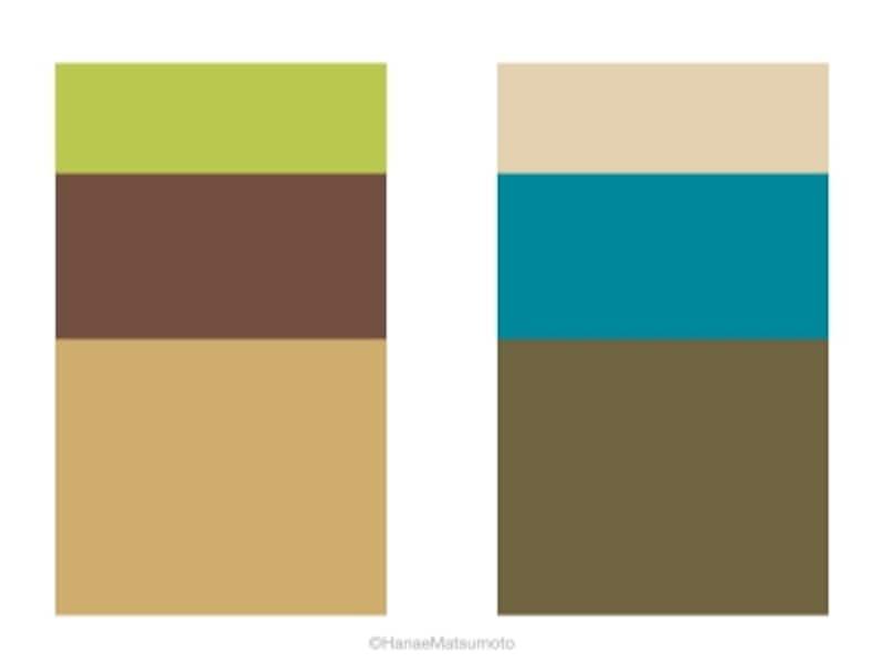 オータムタイプの男性におすすめしたい、休日スタイルの配色例